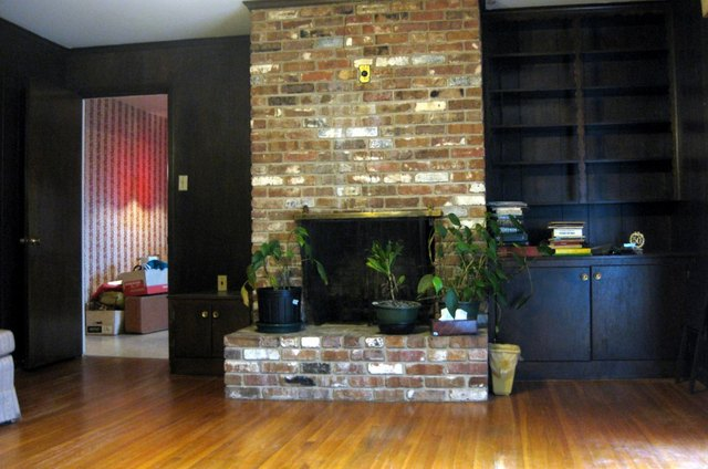 Instant Update: Painted Fireplace