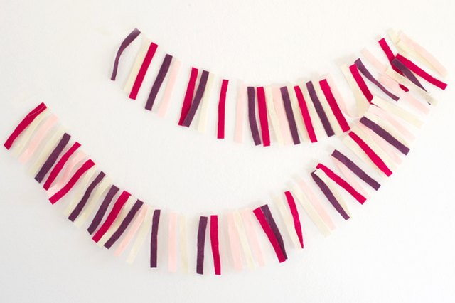 DIY Felt Strip Party Garland