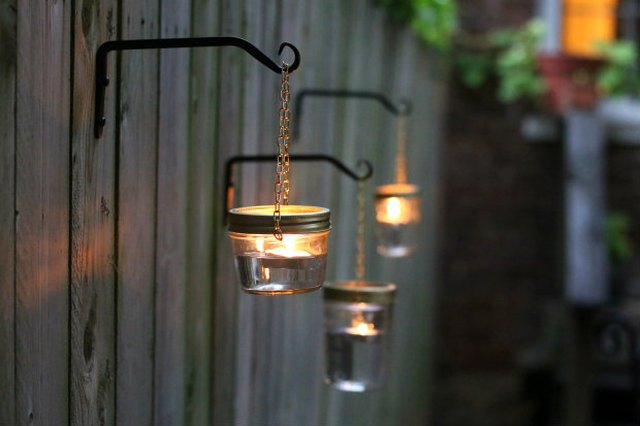 A Glowing Gathering: DIY Outdoor Hanging Mason Jar Lights