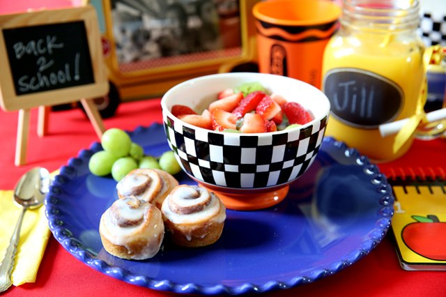 Back-to-School Breakfast with DIY Chalkboard Glasses