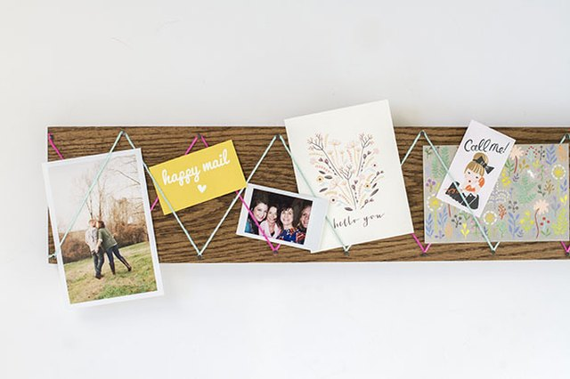 Organize Your Mail with a DIY Yarn and Wood Display