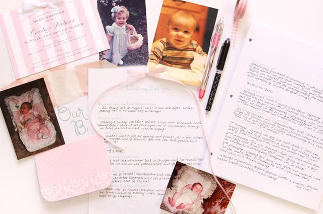 Creating Memories: The Baby Book