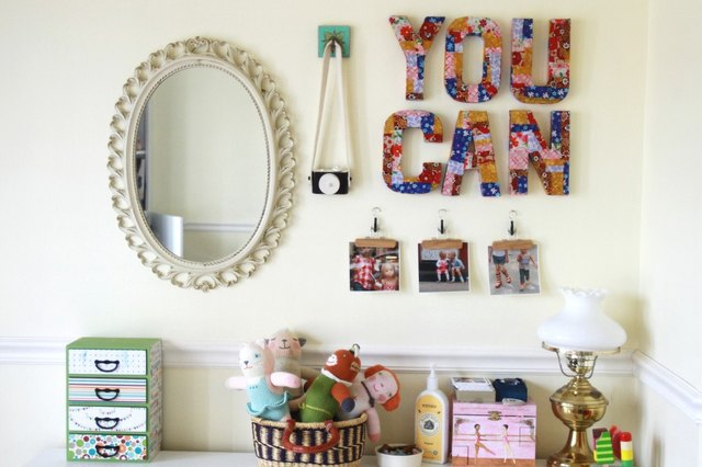 7 Ways to Decorate Your Kids' Rooms with Cardboard Letters