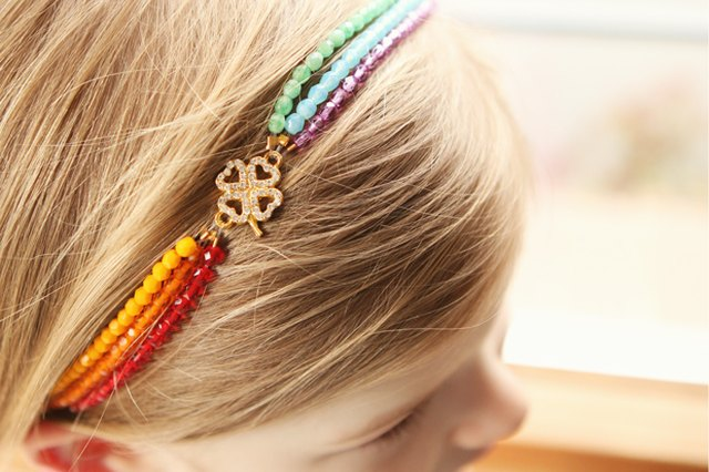 DIY Rainbow Headband for St. Patrick's Day