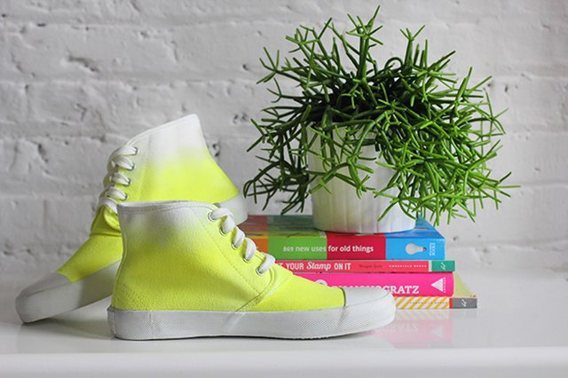 Dip Dyed Neon Sneakers to Kick It In