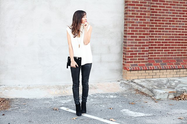 3 Ways to Style Leather Pants