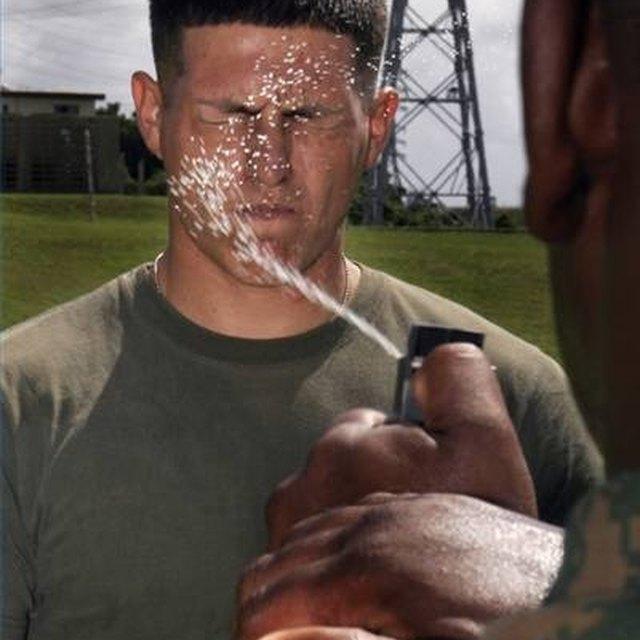 Surviving Pepper Spray Police Officer Training