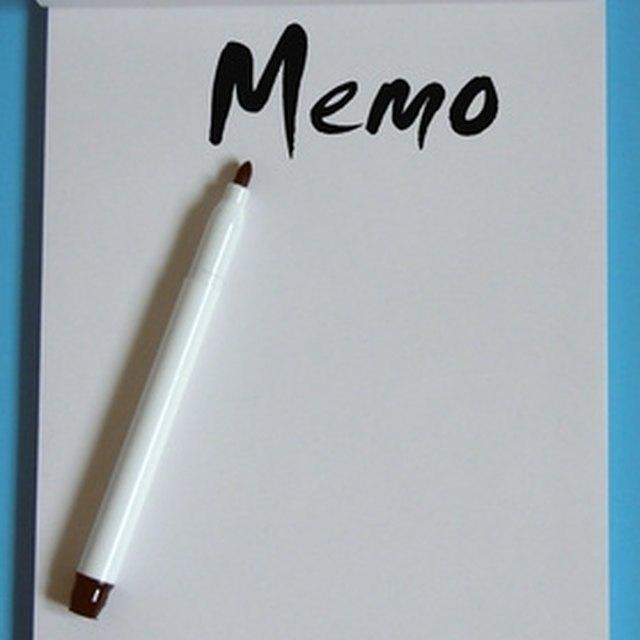 How to Write a Memo to Teachers