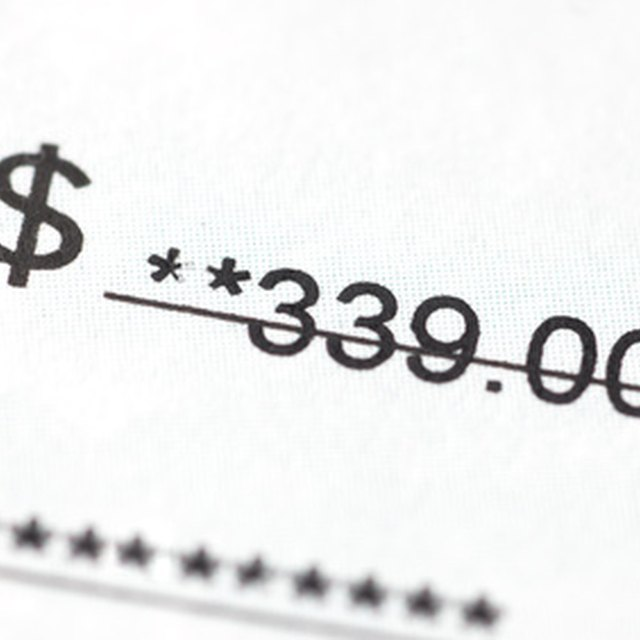 How to Find an Account Number From the Face of a Check