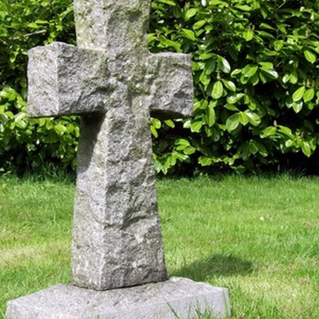 What Cleans Hard Water Off a Headstone?