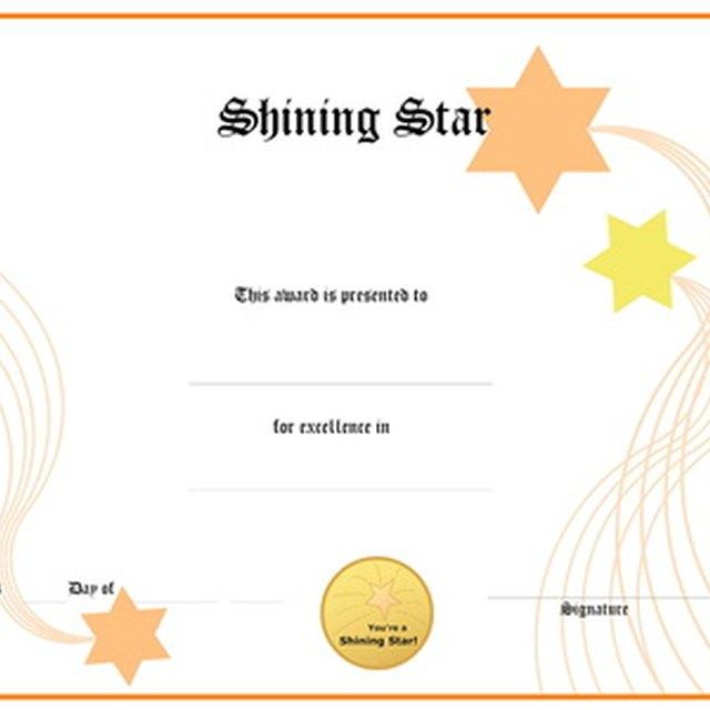 Safety Award Certificates