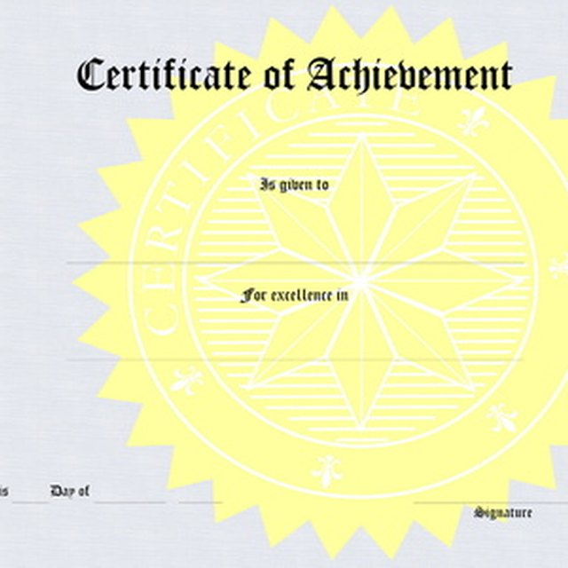 How to Word Scholarship Award Certificates