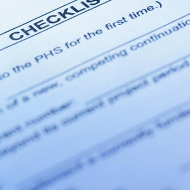 Quality Assurance Plan Checklist