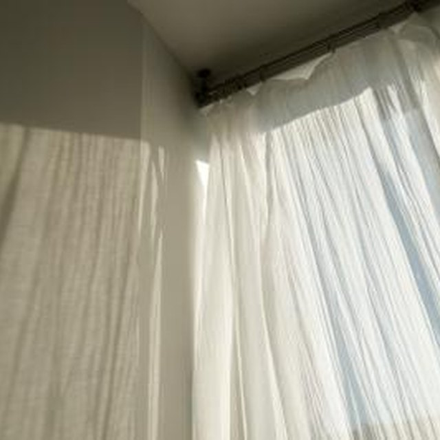 How To Hang Curtain Rods On A Window Close To The Wall