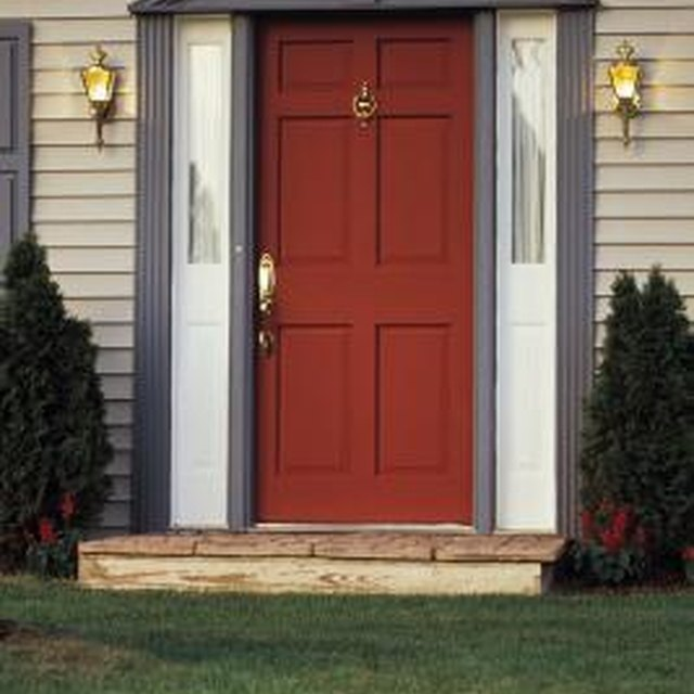 How to refinish sun damaged wood doors homesteady - Refinishing damaged wood exterior doors ...