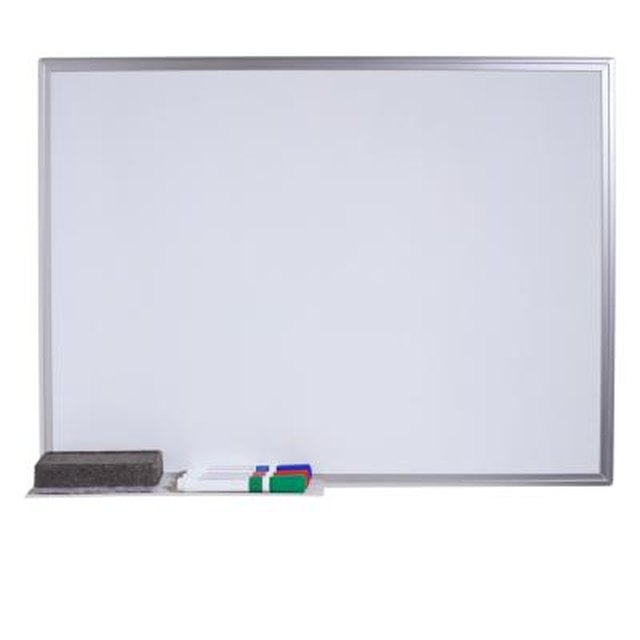 How to Repair the Surface of a Dry-Erase Whiteboard