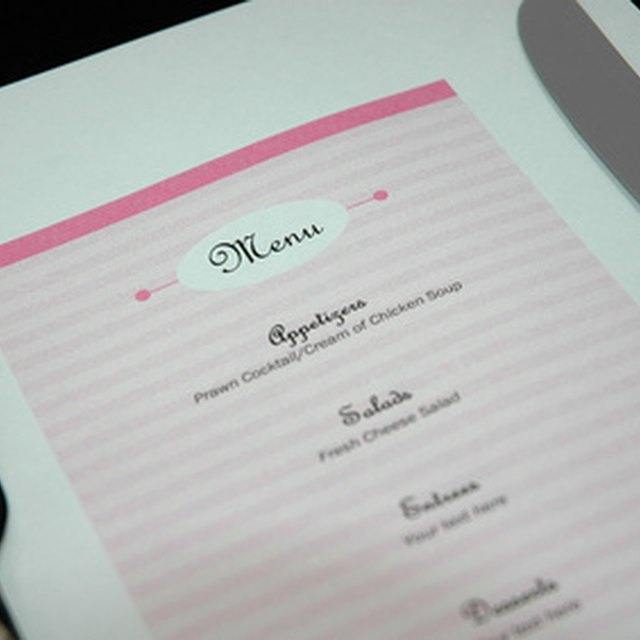 How to Design a Restaurant Menu