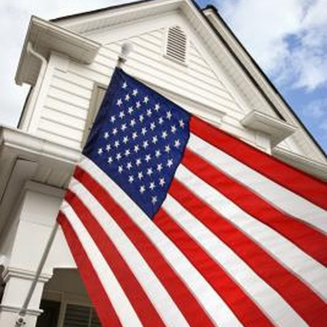 Residential American Flag Hanging Etiquette