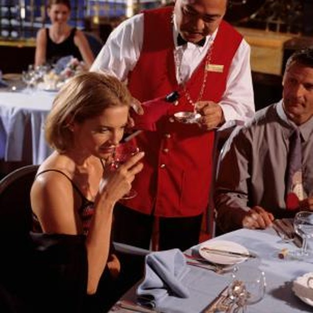 Table Etiquette When the Waiter Brings a Bottle of Wine