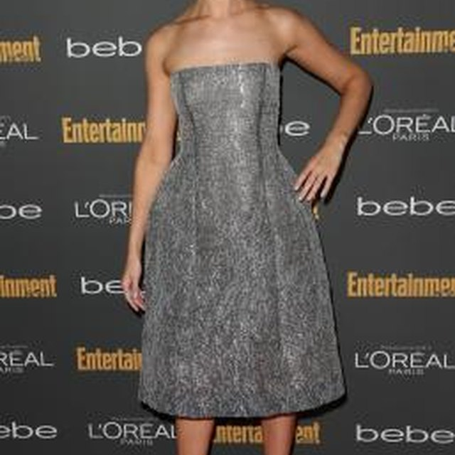Advice on What Shoes to Wear With a Gray Strapless Dress