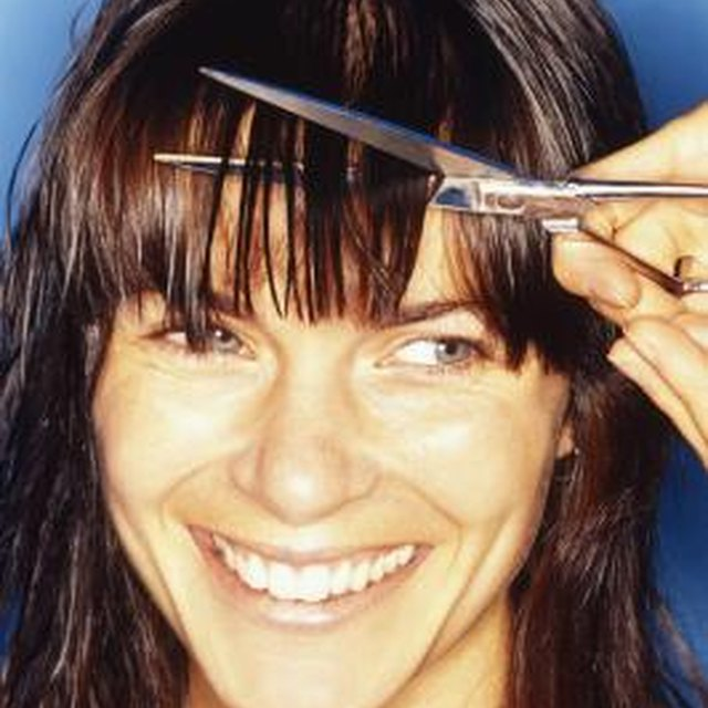 How to Texturize Bangs With Scissors