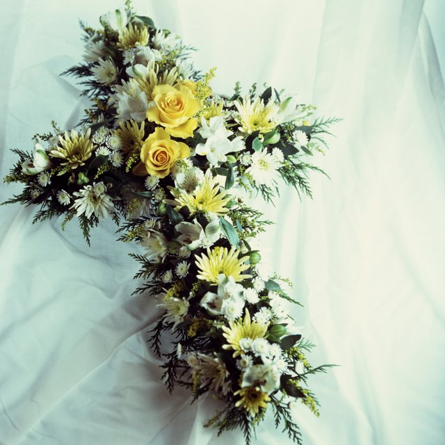 What To Say On A Funeral Flower Arrangement Synonym