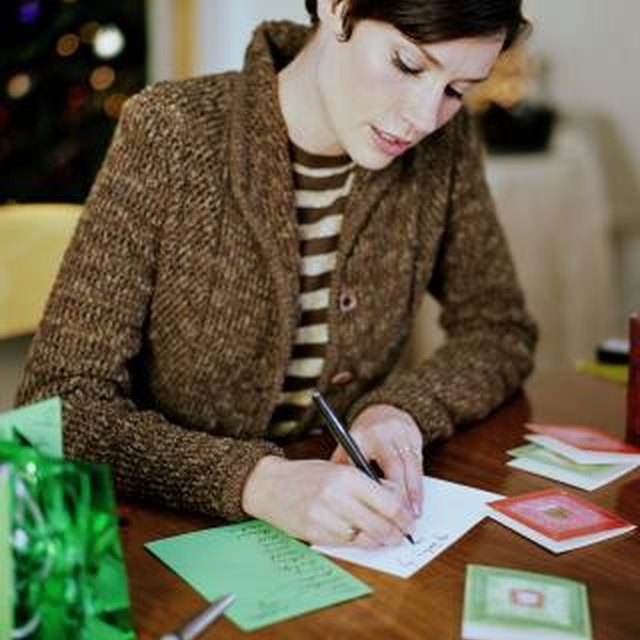Etiquette for Signing Names on Cards