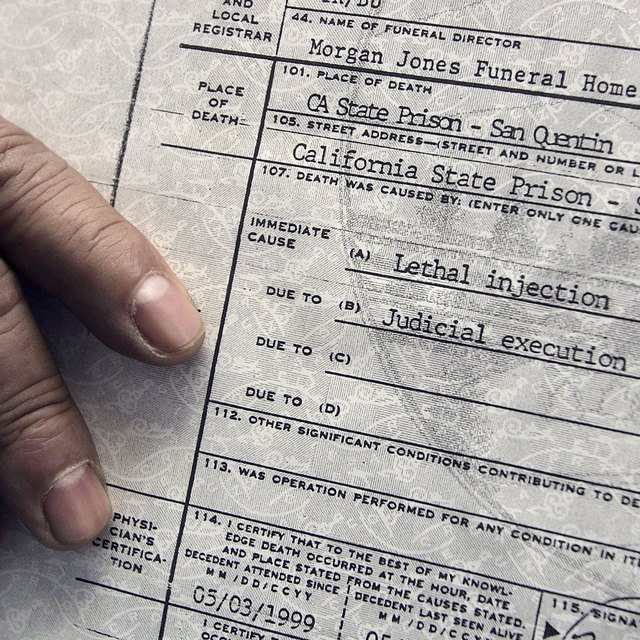 What Is Written on a Death Certificate?