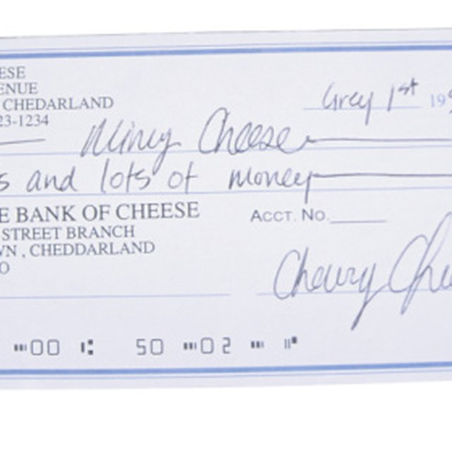 Components of a Bank Check