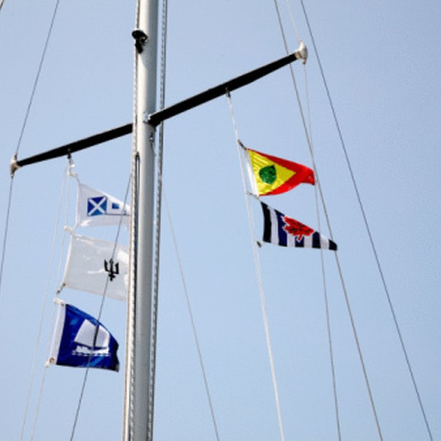 What Flags Are Flown From the Yardarms on a Nautical Flagpole?