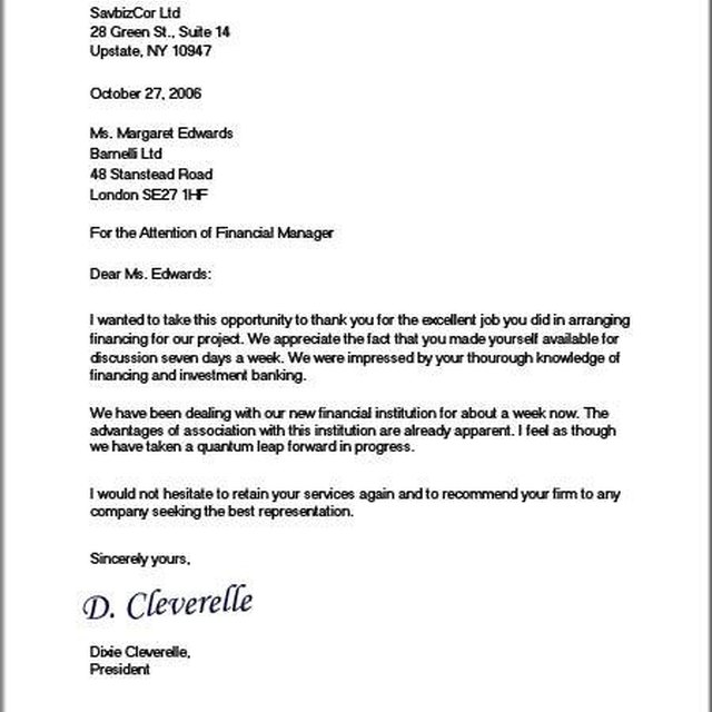 About Formal Business Letters