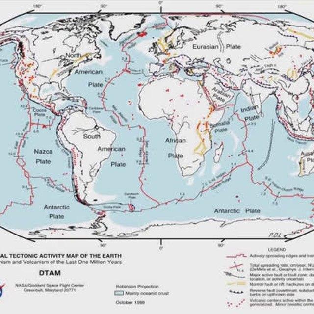 Meteor Strike Effect on Plate Tectonics