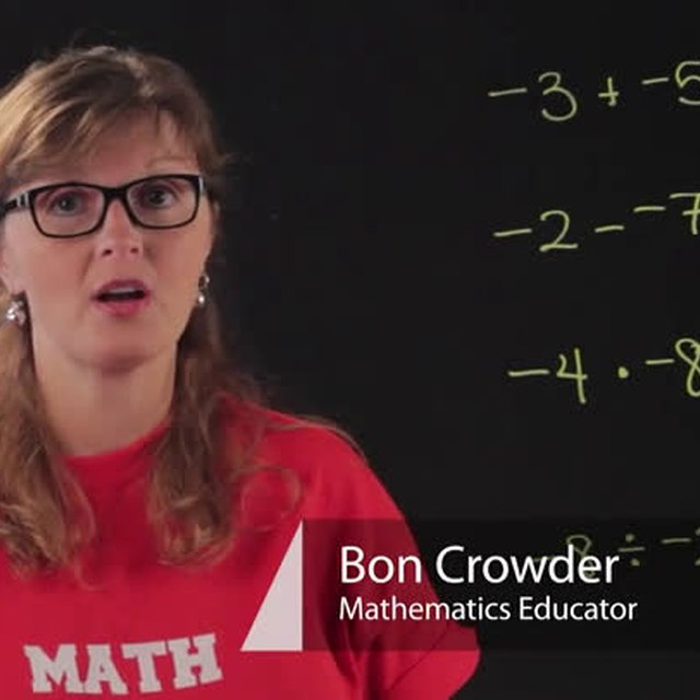 How to Add, Subtract, Multiply, & Divide Negative Numbers
