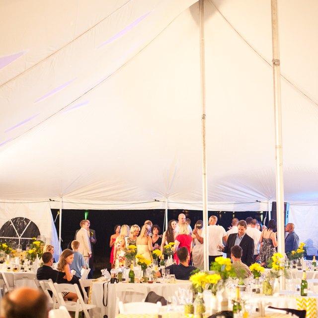 Outdoor Wedding Ideas For Summer On A Budget: DIY Dance Floor For An Outdoor Wedding