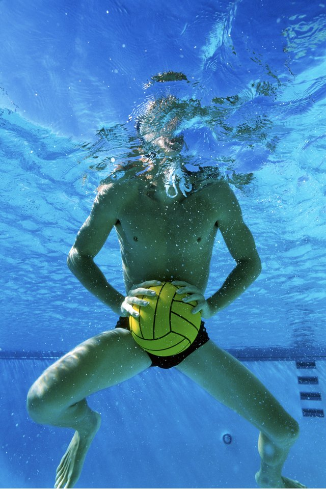Water Exercises Using a Ball