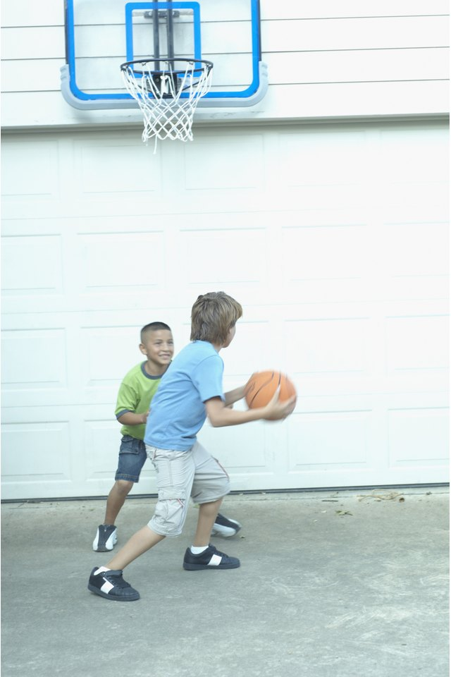 How to Mount a Basketball Hoop to a Garage