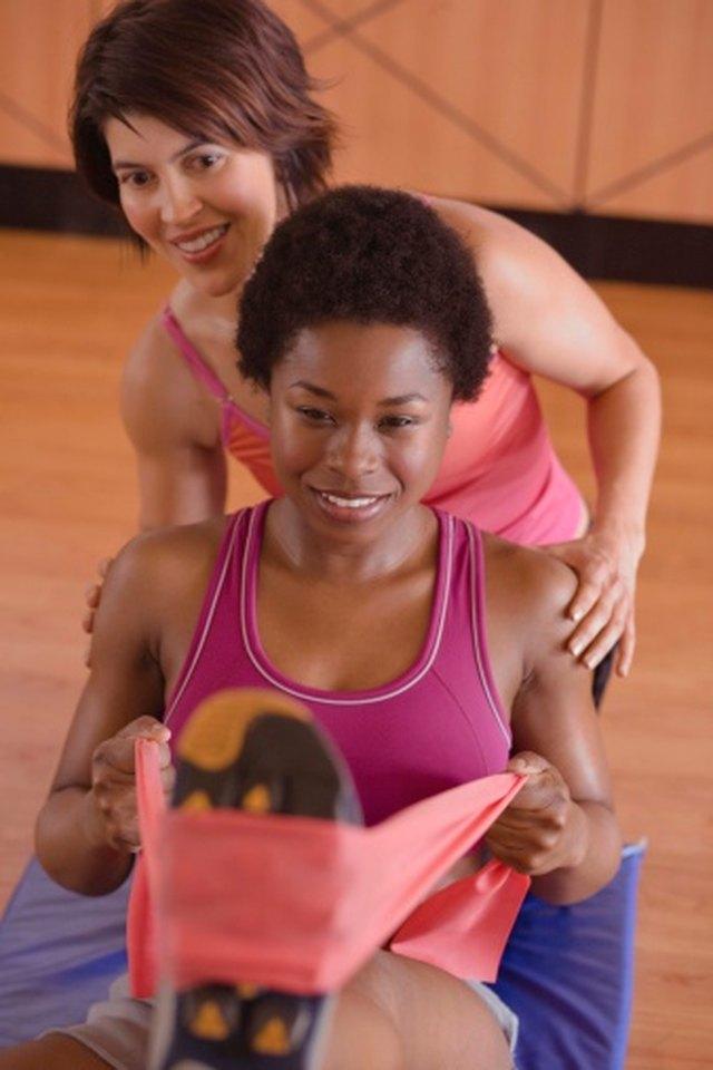 Elastic Workout Band Exercises