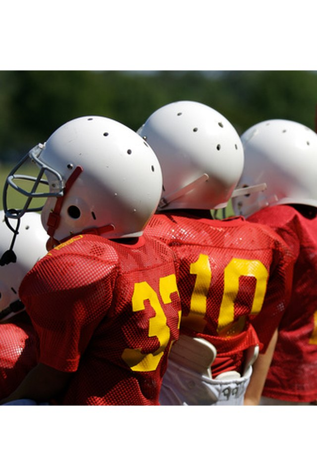 How to Remove Stickers From Football Helmets