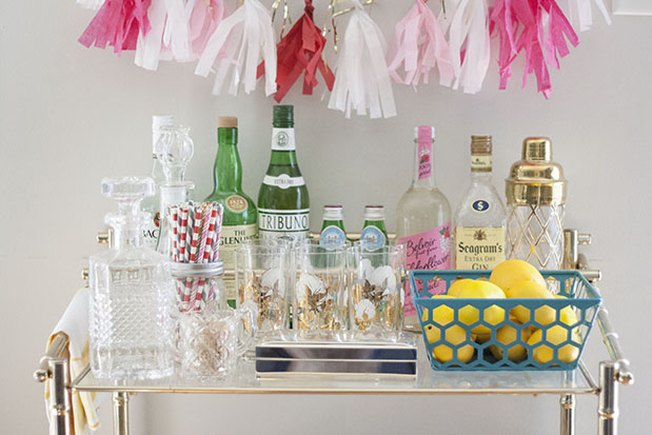 [Article Image] - How to Artfully Arrange a Bar Cart