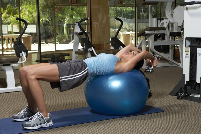 Exercises While Lying Down Using Dumbbells
