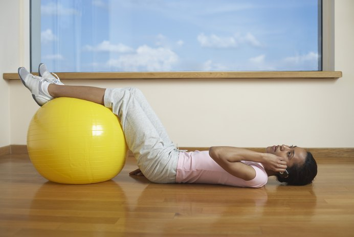Flexibility Exercises With Stability Ball & Tubing