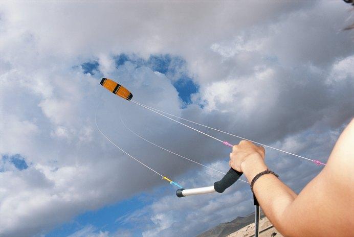 Riding a Kite Surfboard