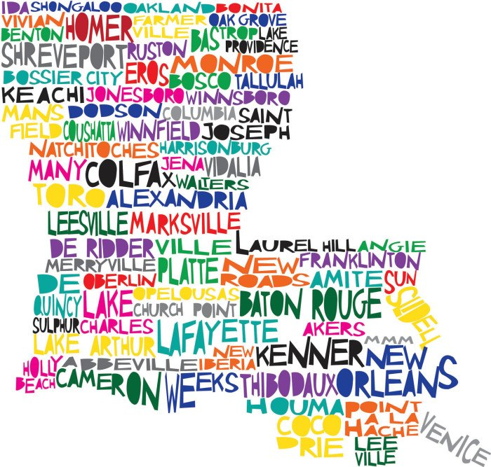 graphic regarding Printable Map of Louisiana identify Hilarious Maps of Louisiana
