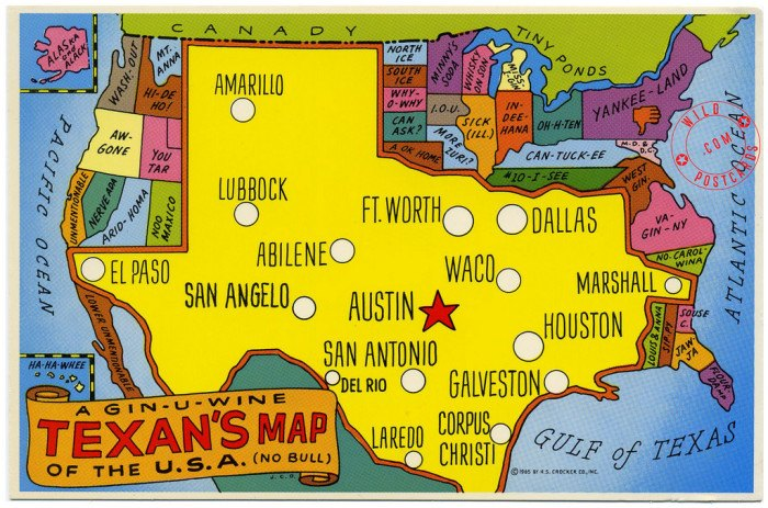 Map Of California Funny.8 Funny Maps Of Texas