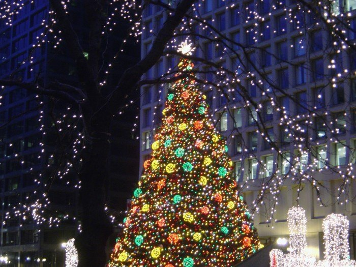 Christmas Tree Downtown Chicago.Here Are The Top 10 Christmas Towns In Illinois