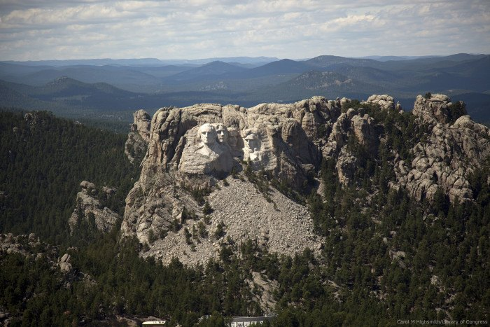 Aerial view of Mount Rushmore, South Dakota - aerial views of south dakota
