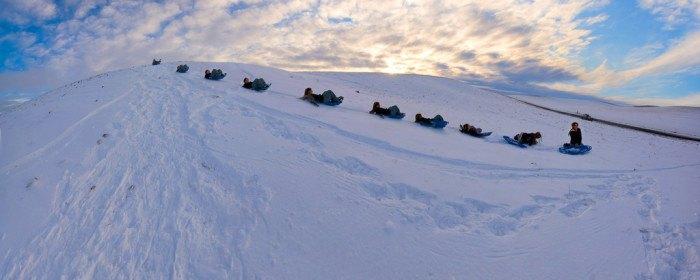 Estes, Idaho in winter