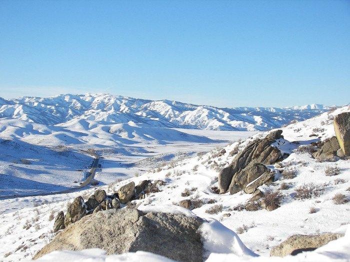 Castle Rocks, Idaho in Winter