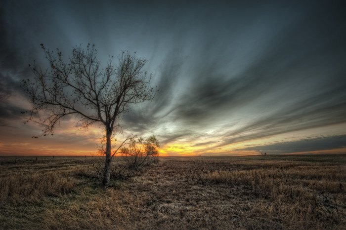 in the fields - stunning sunsets in south dakota