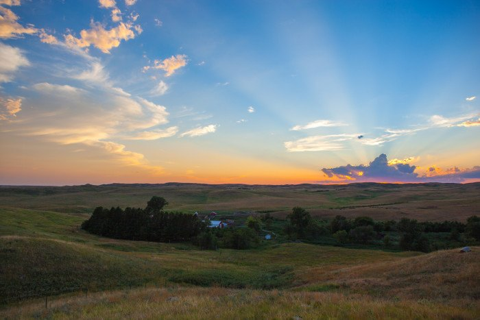 view from the ranch - stunning sunsets in south dakota